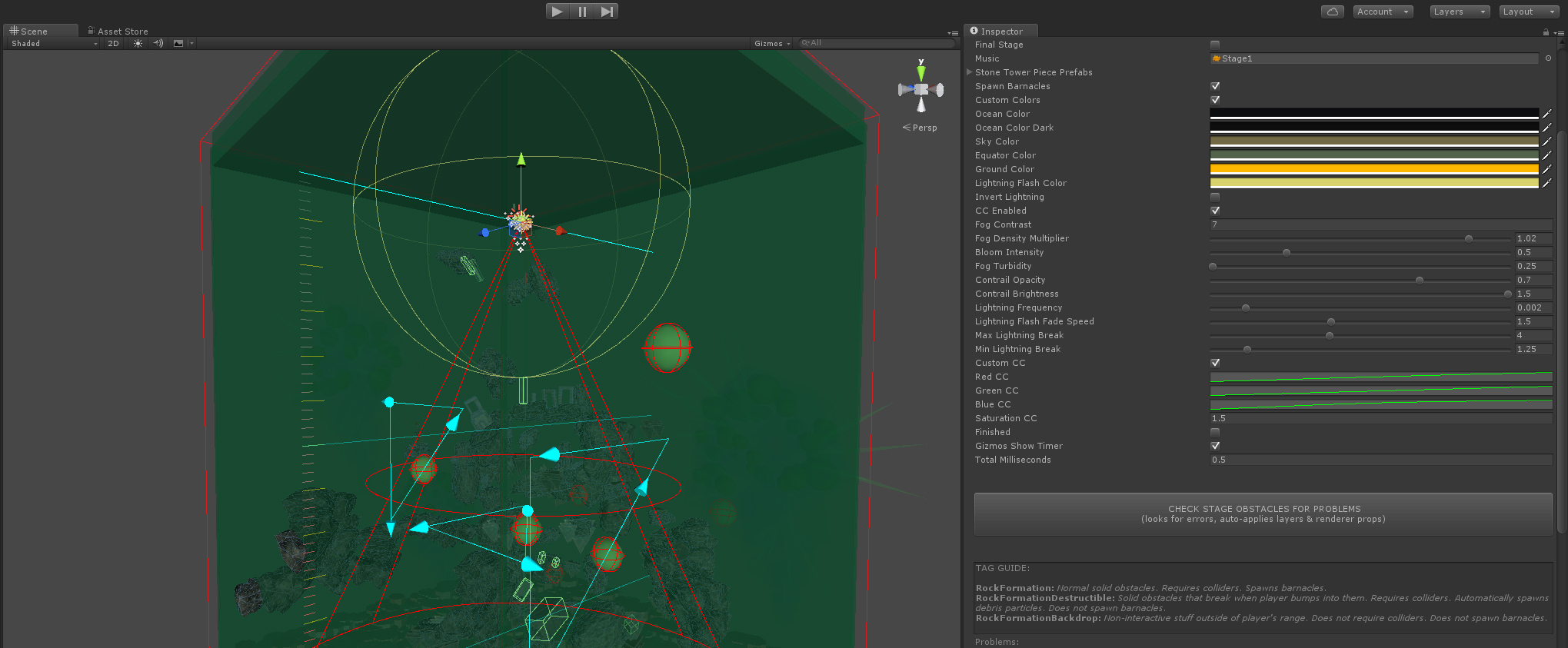 Custom stage editor in the Unity engine